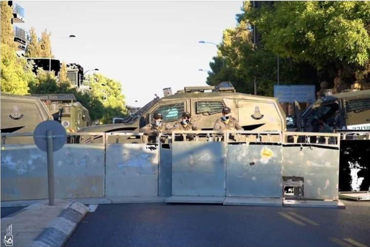 ביצורים מחוץ למעון רה''מ  (צילום: רשתות חברתיות)