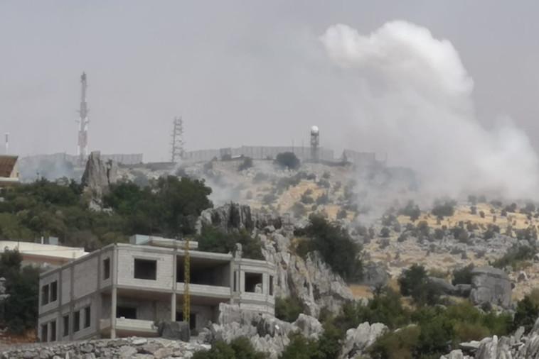 דיווחים על חילופי אש בגבול הצפון (צילום: רשתות ערביות)