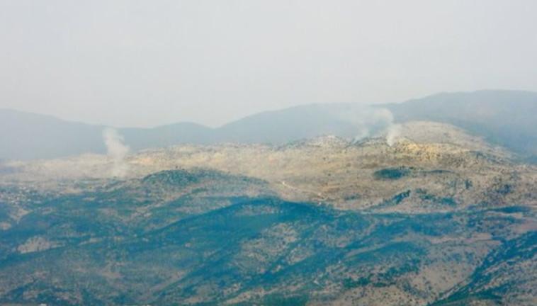 פיצוצים בגבול הצפון (צילום: רשתות ערביות)