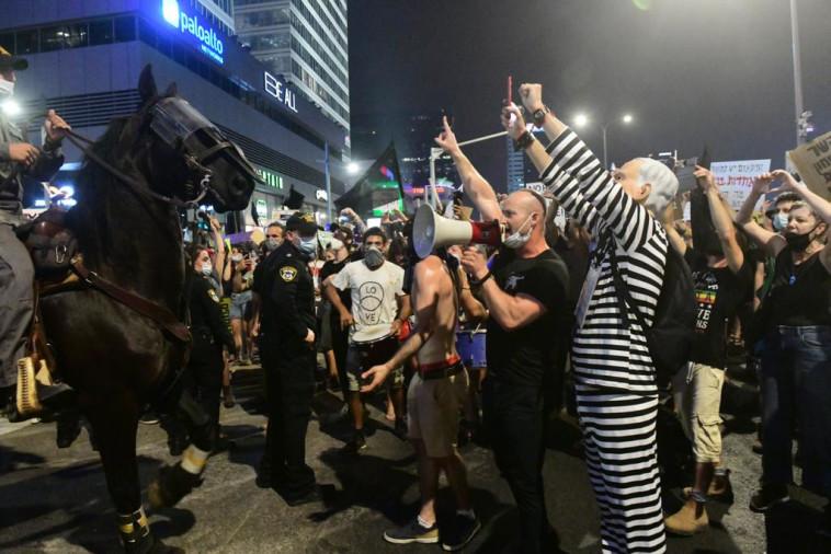 ההפגנה אמש בתל אביב. צילום: אבשלום ששוני (צילום: אבשלום שושני)