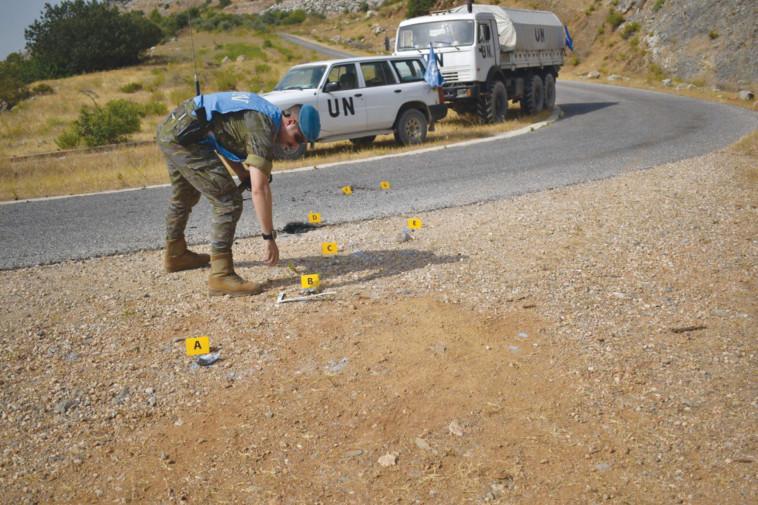 לבנון: כוח או''ם בודק את התקרית שארעה בהר דב (צילום: טוויטר)