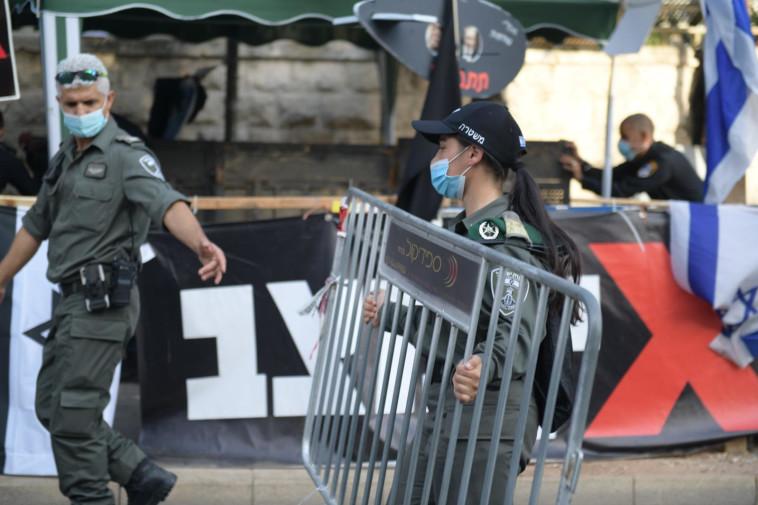 נערכים להפגנות (צילום: דוברות המשטרה)