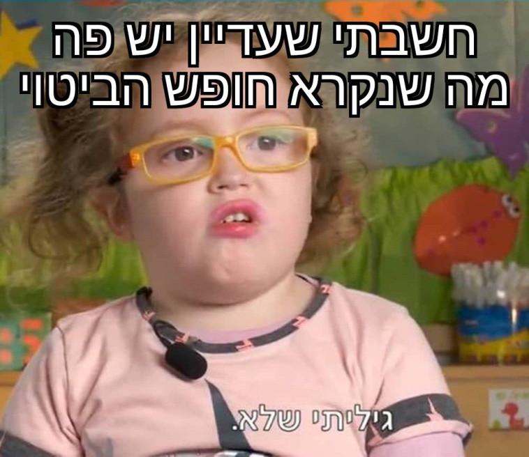 מדינה יהודית, פחות דמוקרטית (צילום: פייסבוק, Dani Pi)