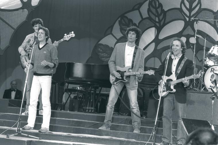 להקת דודה, 1980 (צילום: יעקב סער, לע''מ)