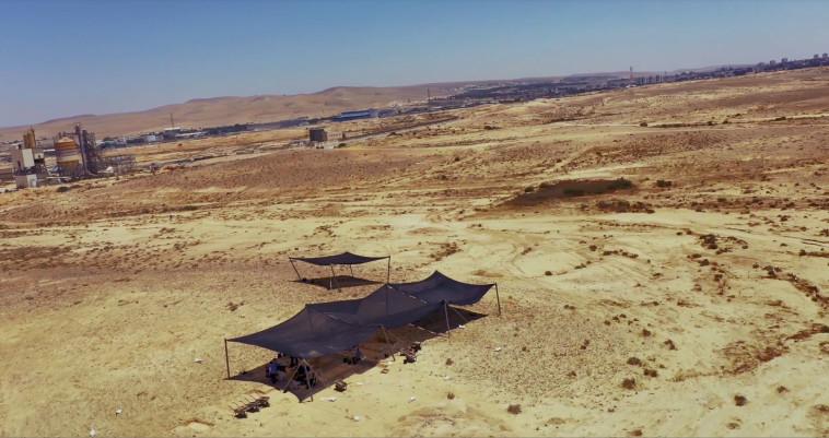 אתר החפירות הארכיאולוגיות סמוך לדימונה (צילום: אמיל אלג'ם, רשות העתיקות)
