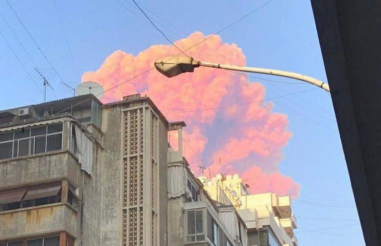 הפיצוצים בנמל ביירות (צילום: רשתות ערביות)