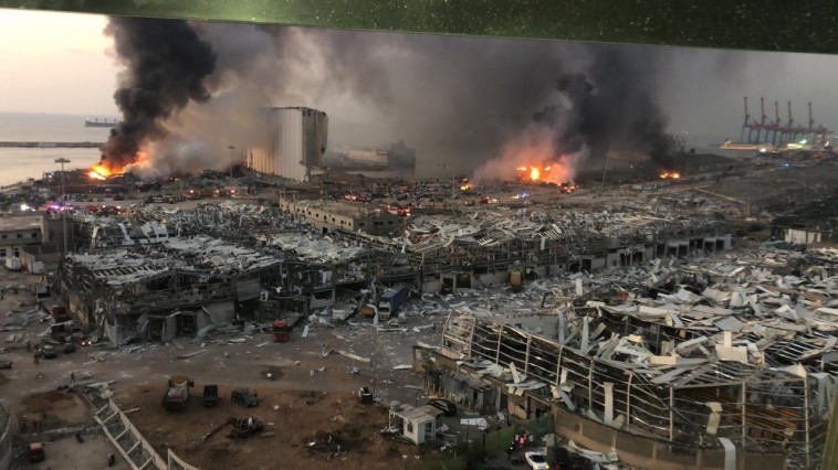 הרס בלבנון בעקבות הפיצוצים (צילום: רשתות ערביות)