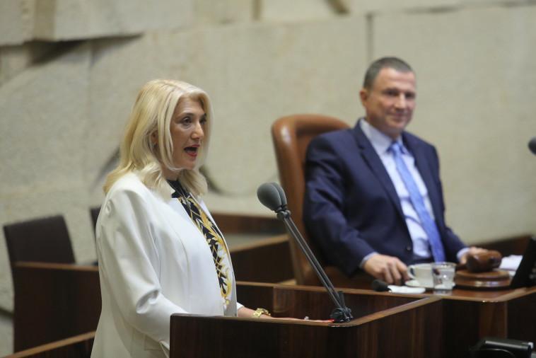 אוסנת מארק במליאת הכנסת (צילום: מרק ישראל סלם)