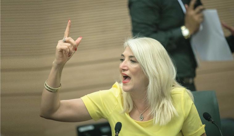 אוסנת מארק בדיון בוועדה בכנסת (צילום: יונתן זינדל, פלאש 90)