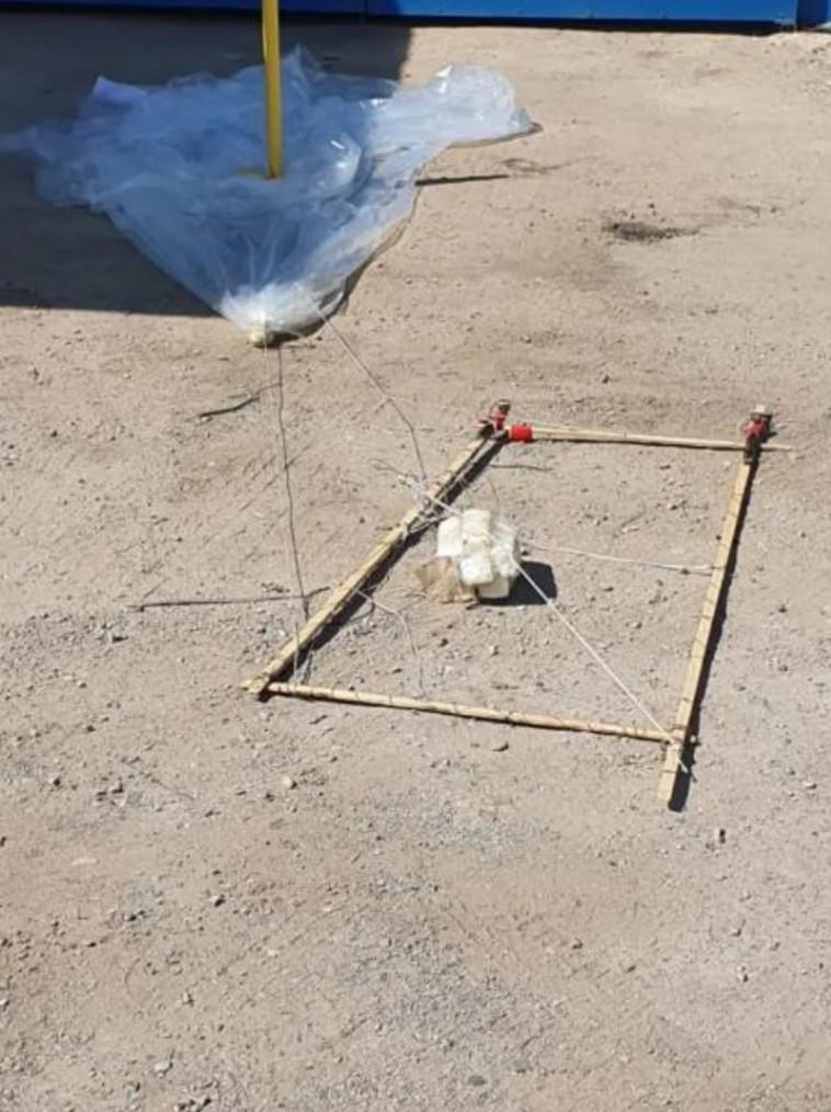 בלון התבערה שאותר בערד (צילום: דוברות המשטרה)