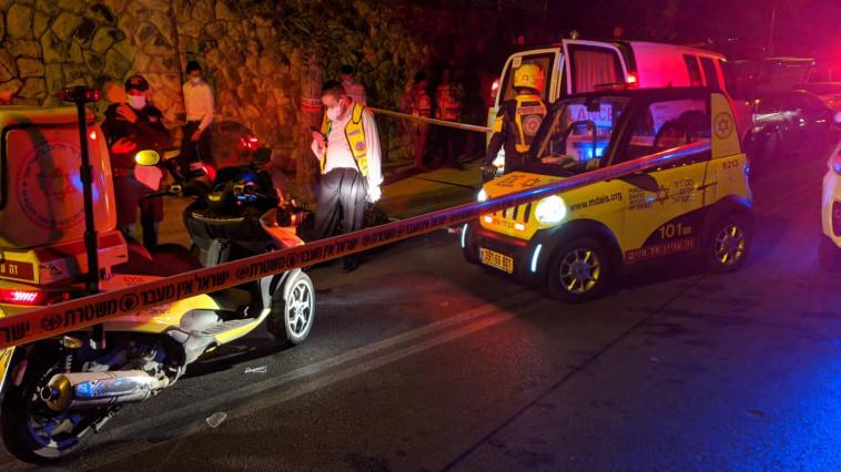תאונת דרכים בירושלים (צילום: תיעוד מבצעי מד''א)