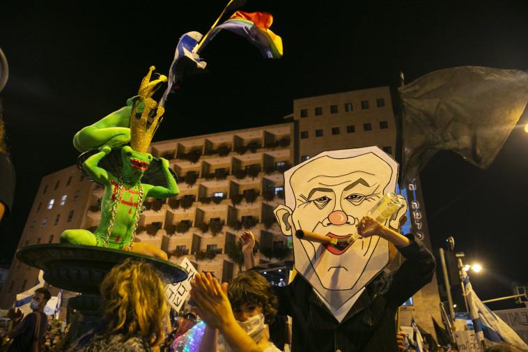 ההפגנות בירושלים (צילום: אוליבייר פיטוסי, פלאש 90)