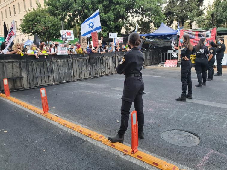 הפגנות נגד הממשלה (צילום: דוברות המשטרה)