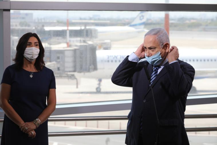 ראש הממשלה בנימין נתניהו בנתב''ג (צילום: פול אמיל סלמן)