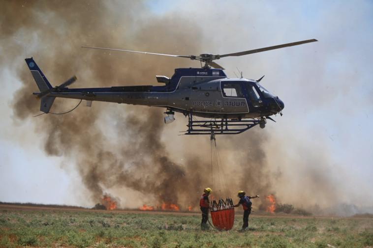 השריפות בעוטף עזה (צילום: אלי כהן דובר כבאות מחוז דרום)