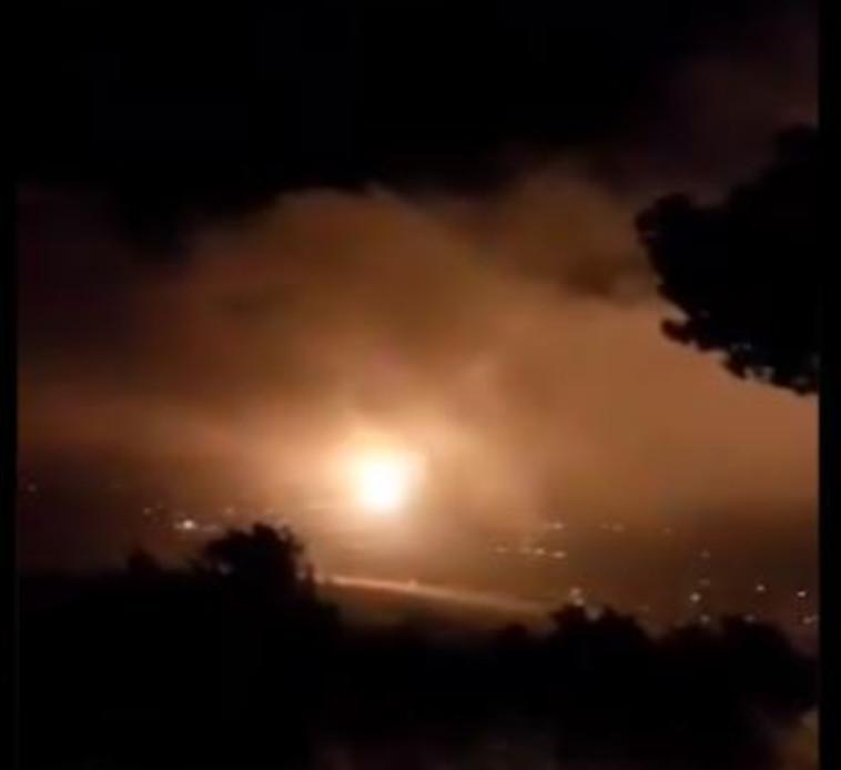 אירוע ביטחוני בגבול לבנון (צילום: רשתות ערביות)
