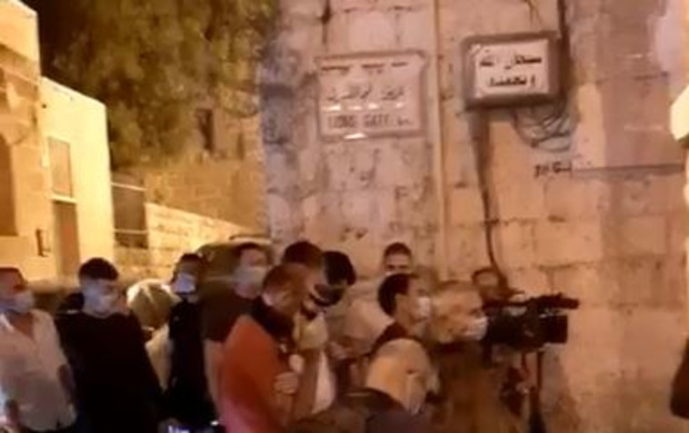 שחזור הירי באיאד אל חלאק (צילום: רשתות ערביות)