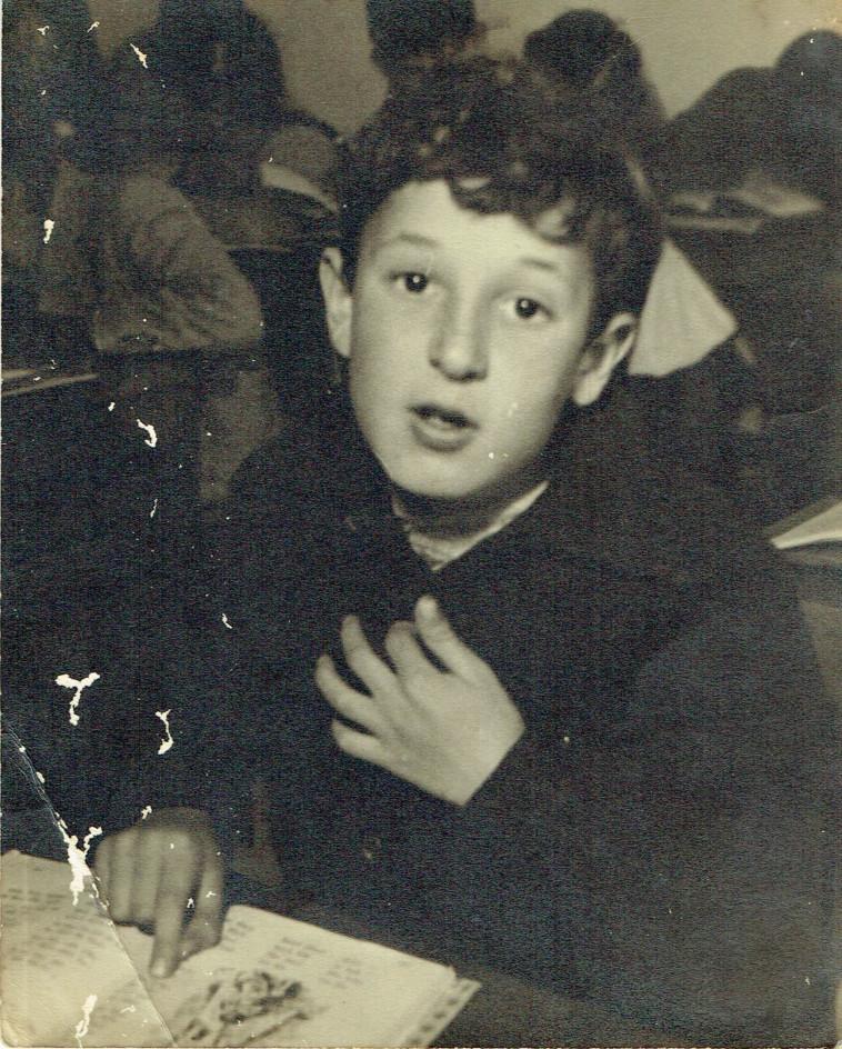 מאיר עוזיאל כתלמיד (צילום: פרטי)