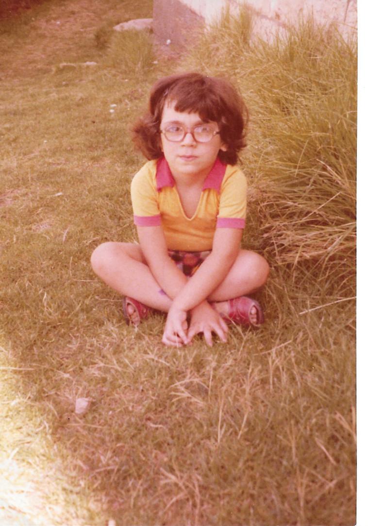 כרמית ספיר ויץ כילדה (צילום: פרטי)