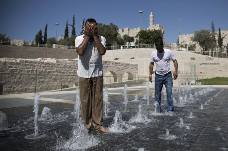 גל חום בירושלים, ארכיון (למצולמים אין קשר לנאמר בכתבה) (צילום: יונתן זינדל, פלאש 90)