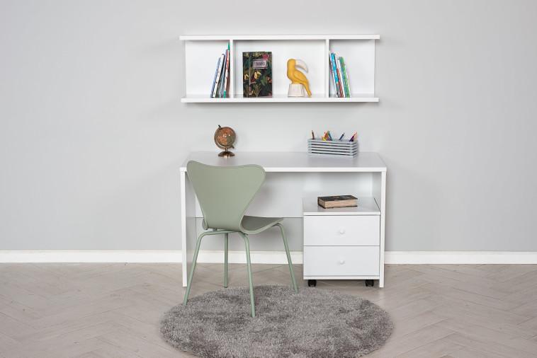 סט שולחן כתיבה ויחידת מדפים של עצמלה (צילום: שחר פליישמן)