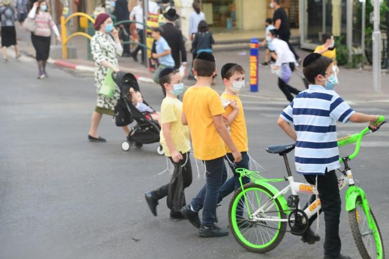 קורונה בישראל: בני ברק (צילום: אבשלום ששוני)