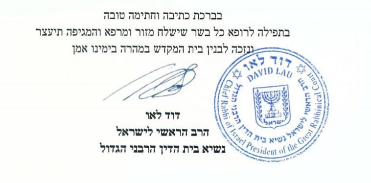 הנחיות הרב הראשי לישראל  (צילום: צילום מסך)
