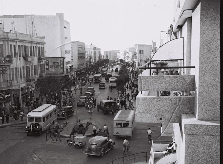 תל אביב בשנות הארבעים (צילום: הנס פין, לע''מ)
