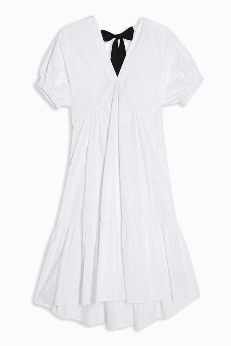 TOPSHOP - שמלת פפלום עם סרט קשירה בגב - 249.90שח (צילום: יח''צ)
