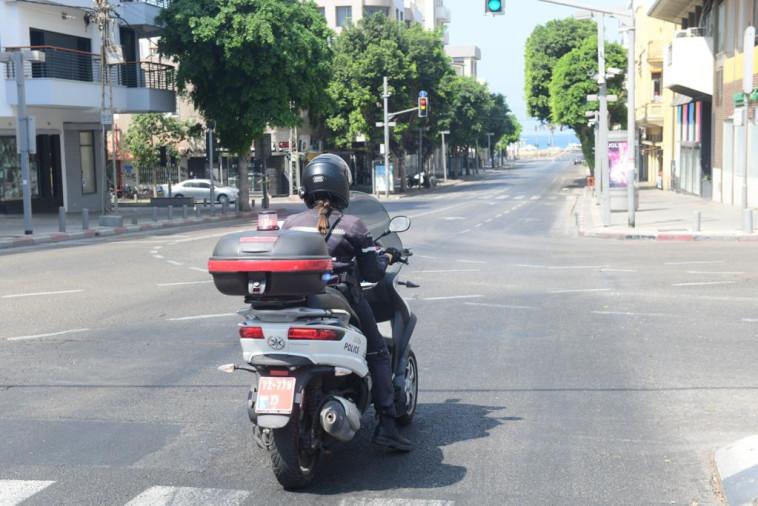 הסגר בתל אביב (צילום: אבשלום ששוני)