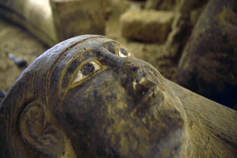 אחד הסרקופגים שנמצא במצרים (צילום: egymonuments)