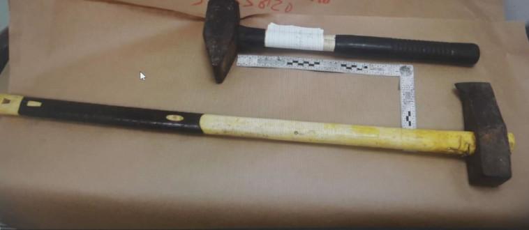 כלי הנשק מהתקיפה בכפר בלום (צילום: דוברות המשטרה)