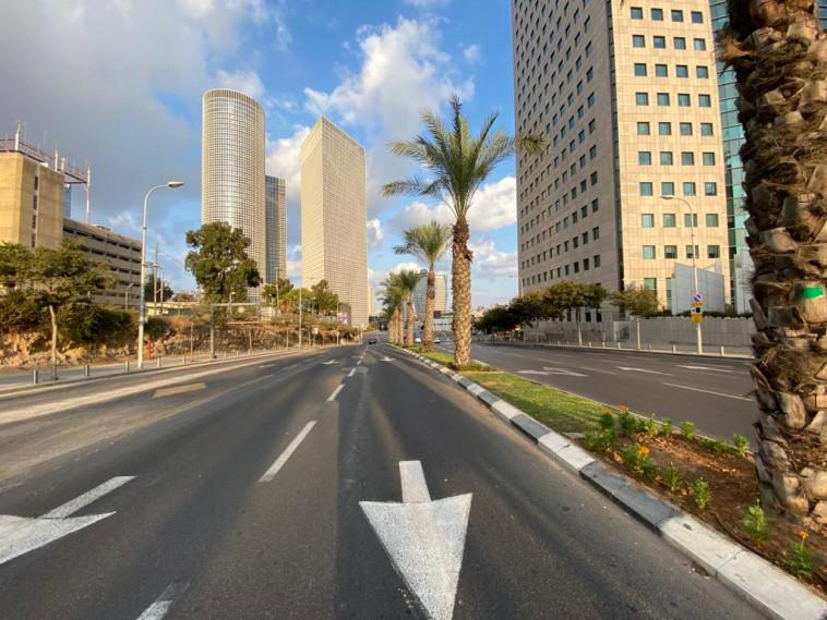 קורונה - תל אביב בימי הסגר (צילום: אבשלום ששוני)