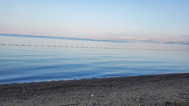 חוף דוגית. הכנרת ריקה מאדם (צילום: איציק לוי, איגוד ערים כינרת )