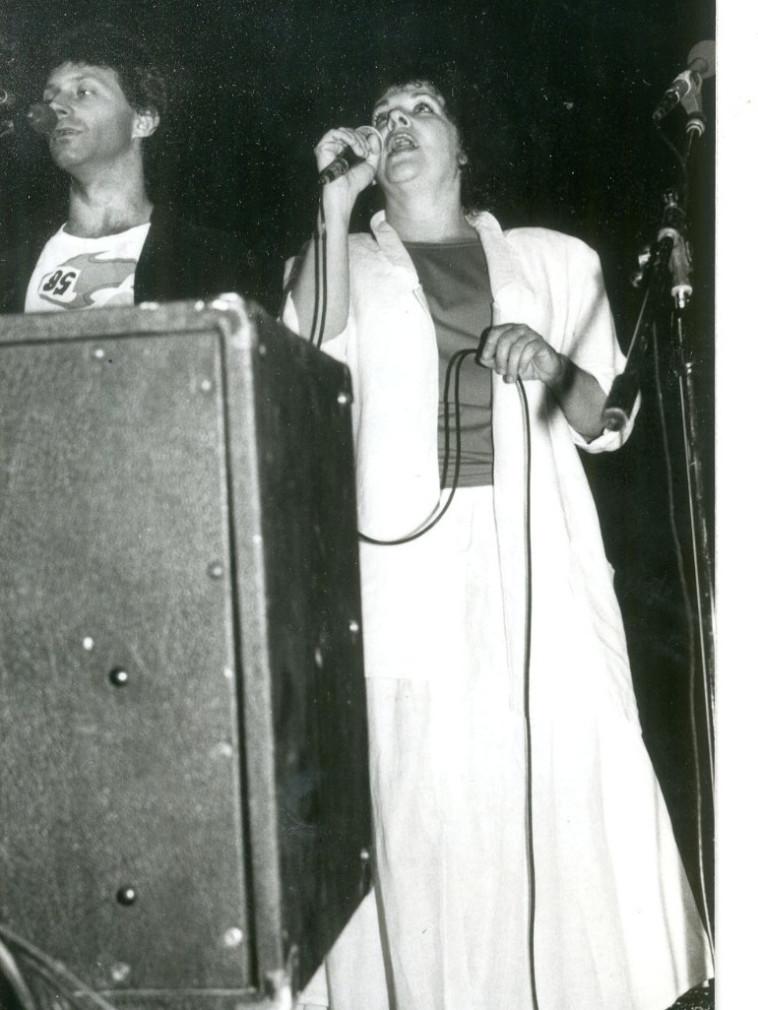 אורה זיטנר ומתי כספי, 1986 (צילום: נאוה שמש)