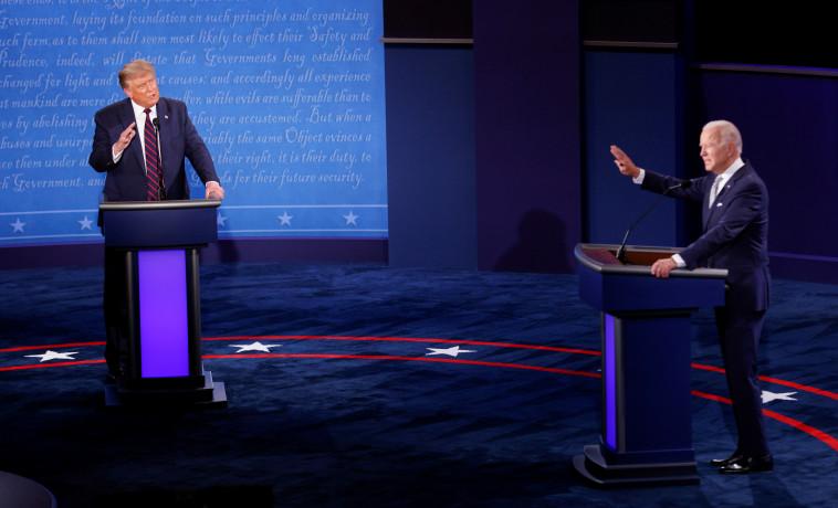 העימות הראשון של טראמפ וביידן  (צילום: רויטרס)