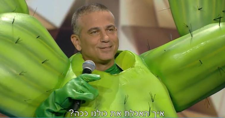 הזמר במסכה - ינון מגל (צילום: צילום מסך קשת)