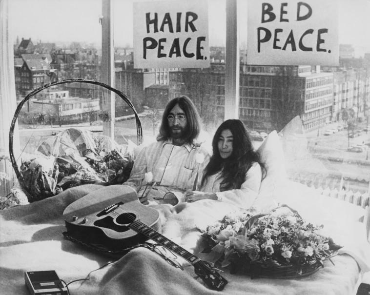 ג'ון לנון, יוקו אונו (צילום:  Keystone  Getty Images)