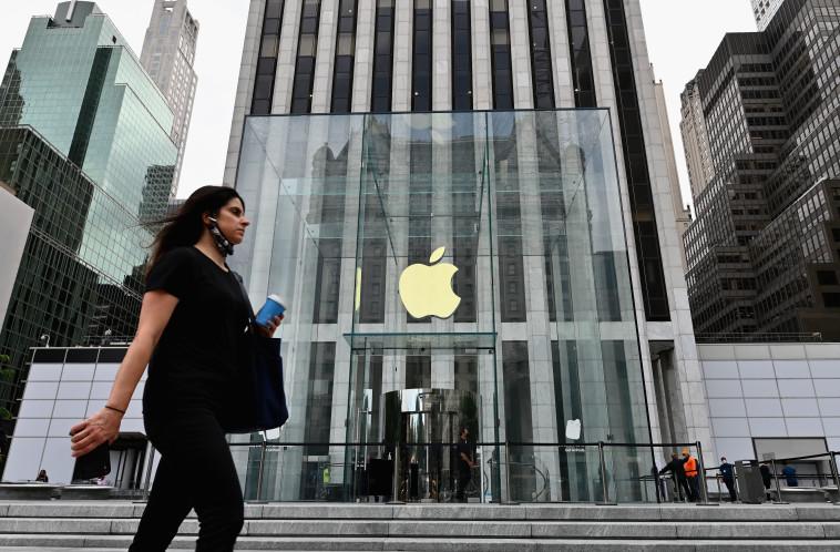 החנות של אפל בשדה החמישית בניו יורק (צילום: ANGELA WEISS/AFP via Getty Images)