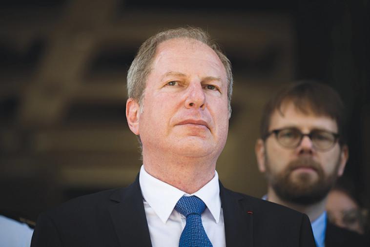 שגריר צרפת בירושלים (צילום: יונתן זינדל, פלאש 90)