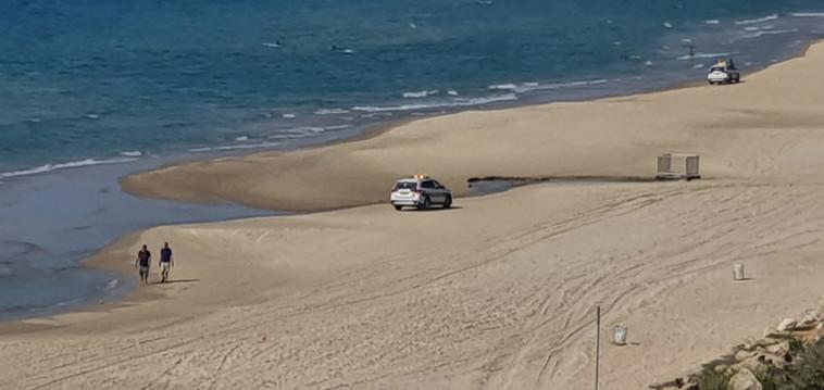 אכיפה בחוף הים (צילום: יואל מילר)