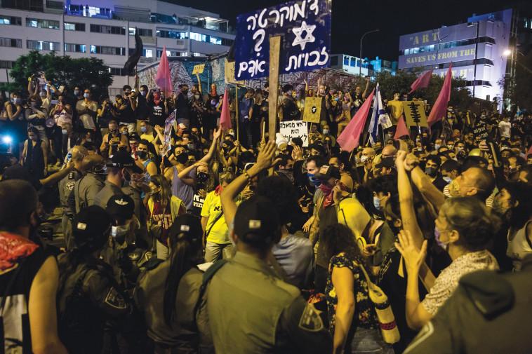 ההפגנות נגד נתניהו (צילום: Amir Levy/Getty Images)