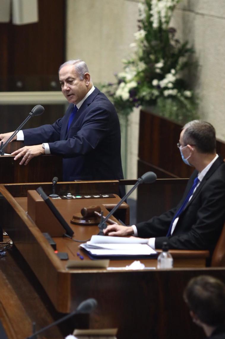 נתניהו בדיון על ההסכם עם איחוד האמירויות (צילום: דוברות הכנסת, גדעון שרון)