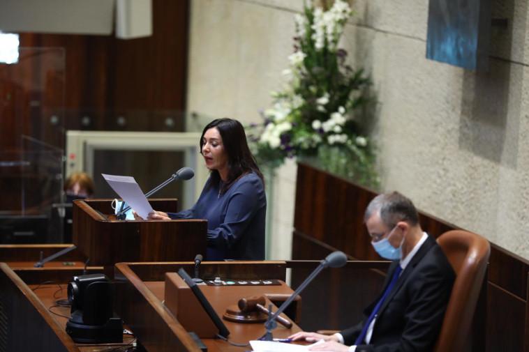 מירי רגב בדיונים על הסכם השלום עם האמירויות (צילום: דוברות הכנסת, גדעון שרון)