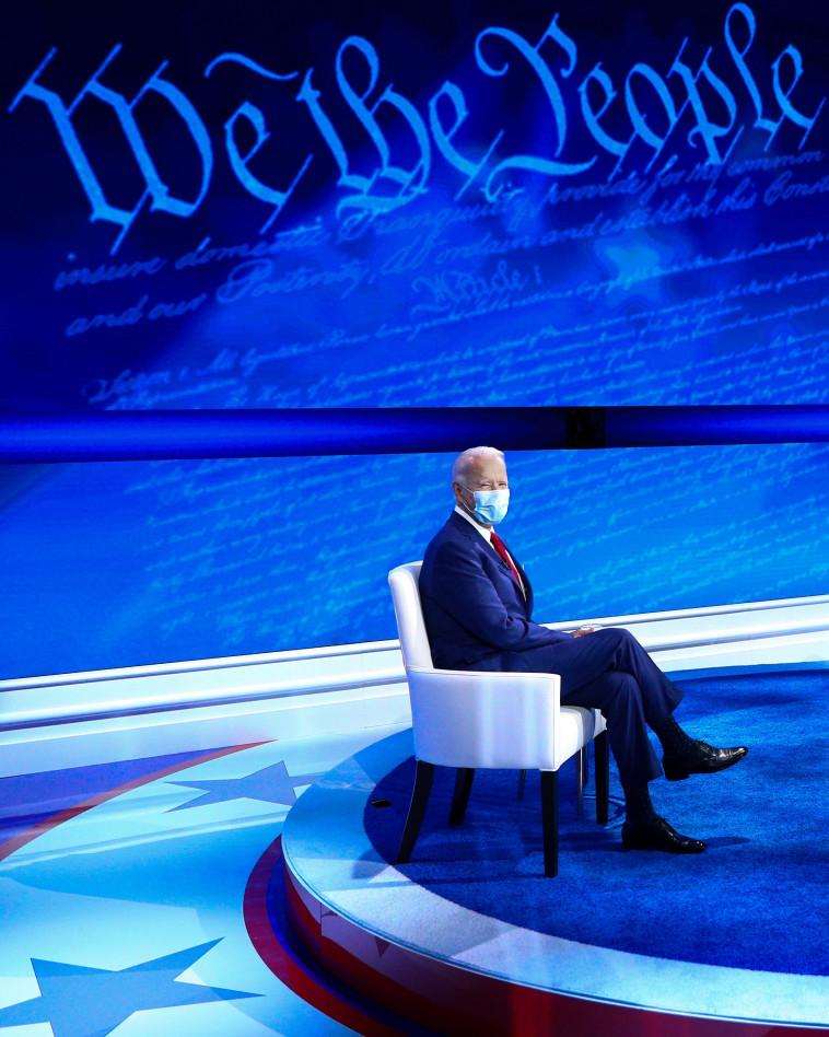 ג'ו ביידן במהלך הראיון (צילום: REUTERS/Tom Brenner)