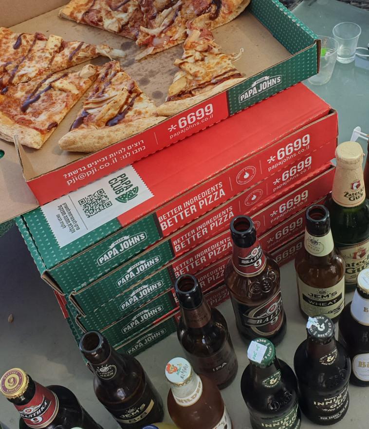 בירה ופיצה, הזיווג המושלם?  (צילום: ניר קיפניס)