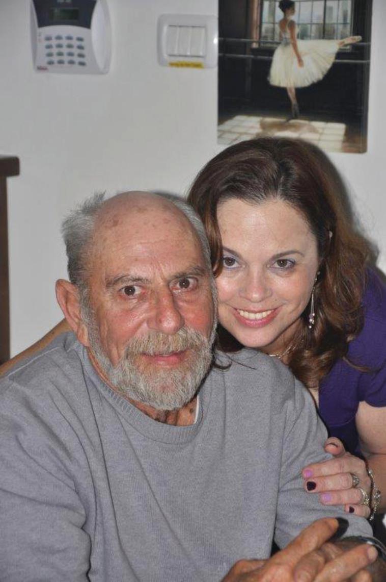 שפרה ארשדי ואביה ז''ל (צילום: פרטי)