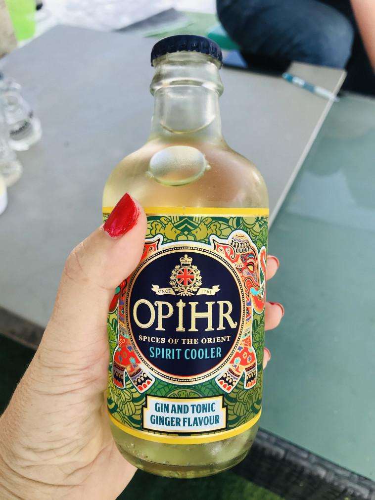 ג'ין טוניק OPIHR מוכן לשתייה  (צילום: טליה לוין)