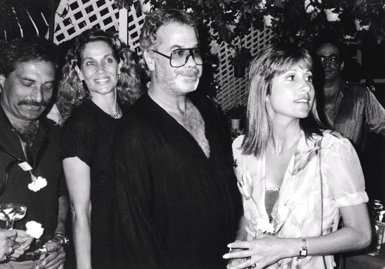 שנת 1982 יהודה ברקן ועדנה לב  (צילום: אירית רותם)