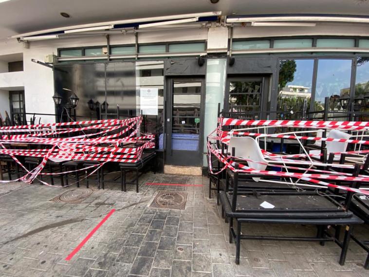 מסעדות סגורות ועסקים קורסים בתל אביב בגלל הסגר והקורונה (צילום: אבשלום ששוני)